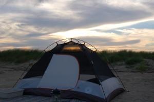 Camping in Galveston