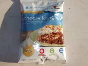 Wise Company Cheesy Lasagna